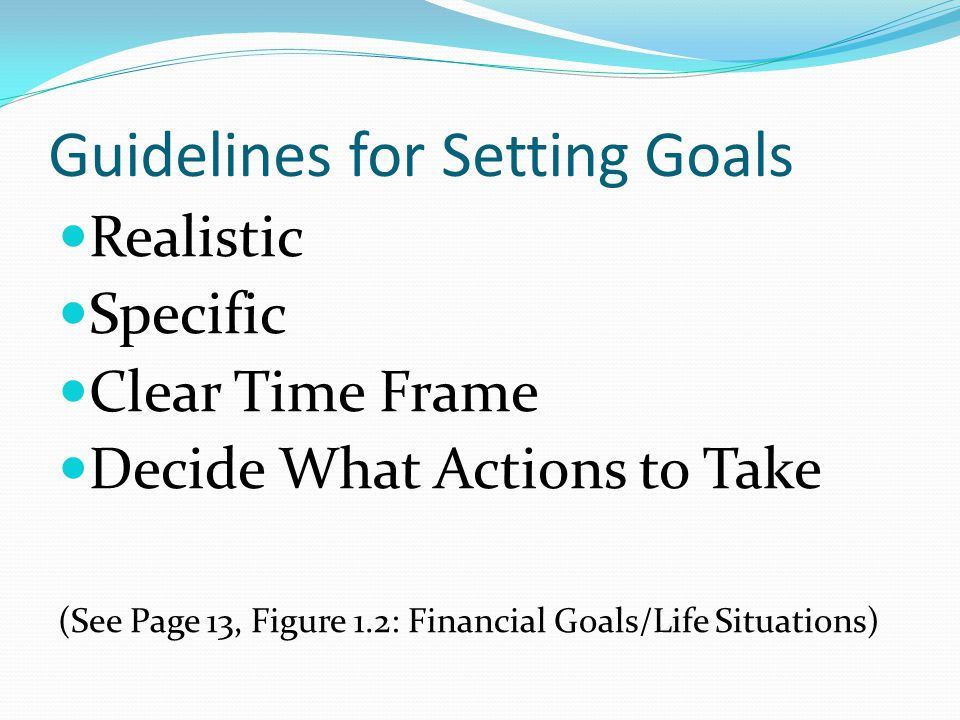 Guidelines for Setting Goals
