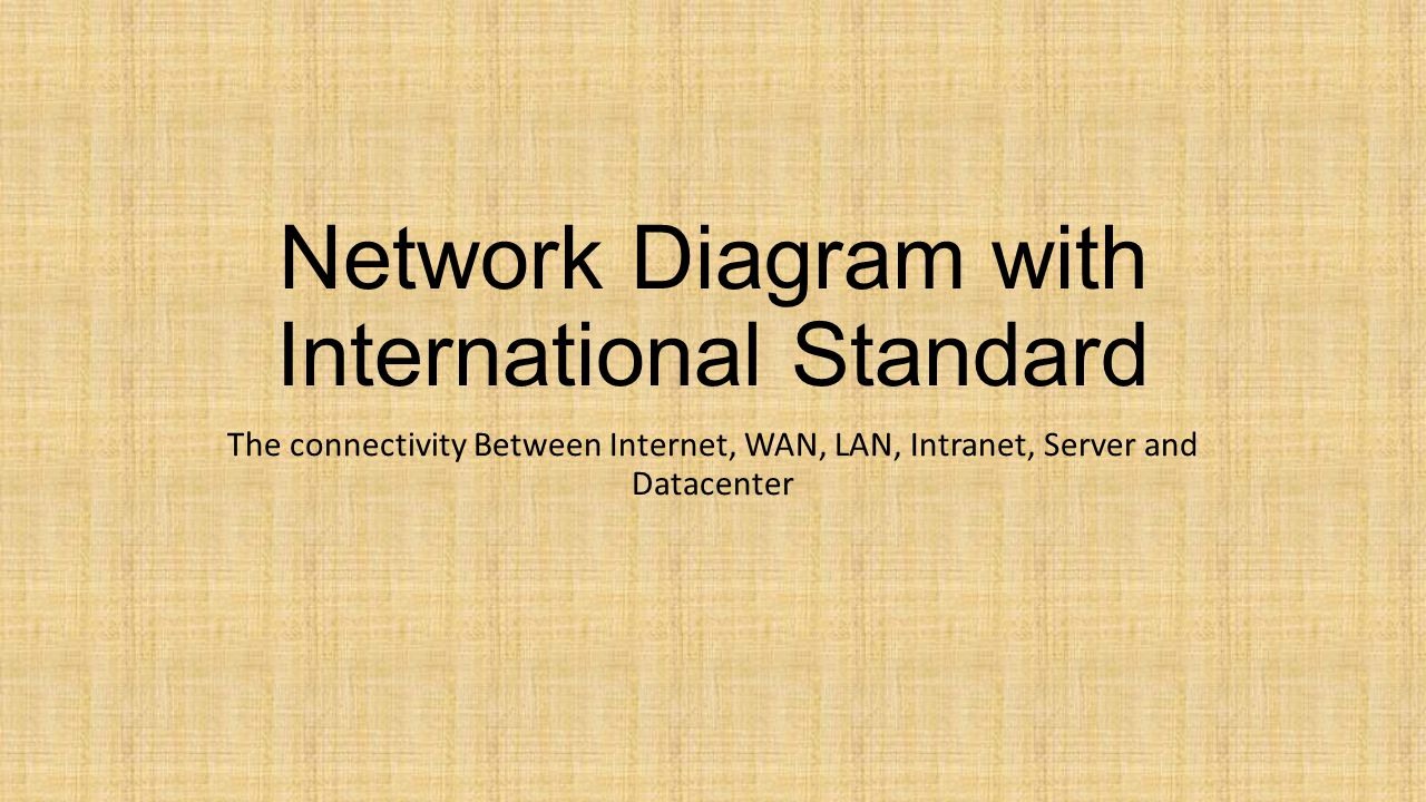 Network Diagram with International Standard