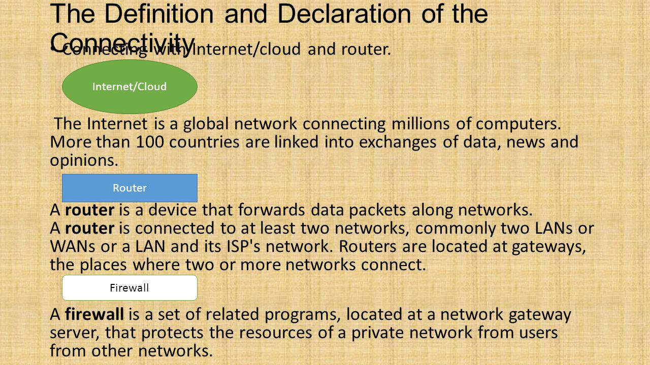 The Definition and Declaration of the Connectivity