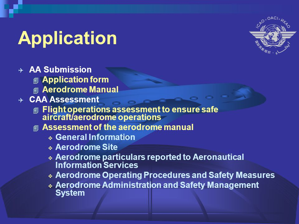 Aerodrome Certification Exercise The Process - ppt video