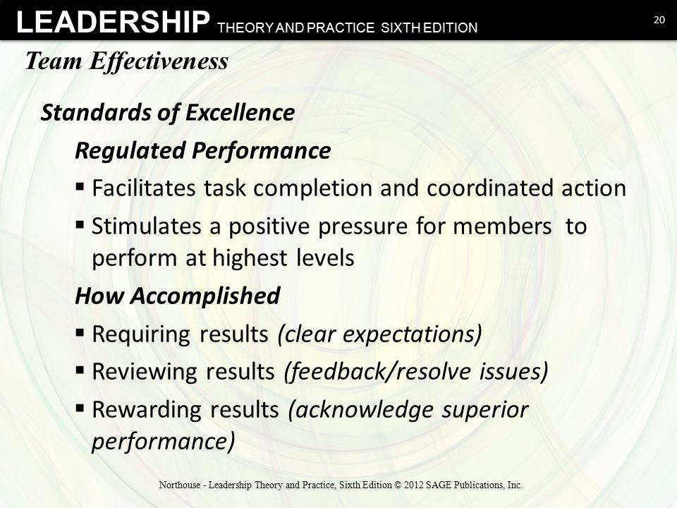 Standards of Excellence Regulated Performance