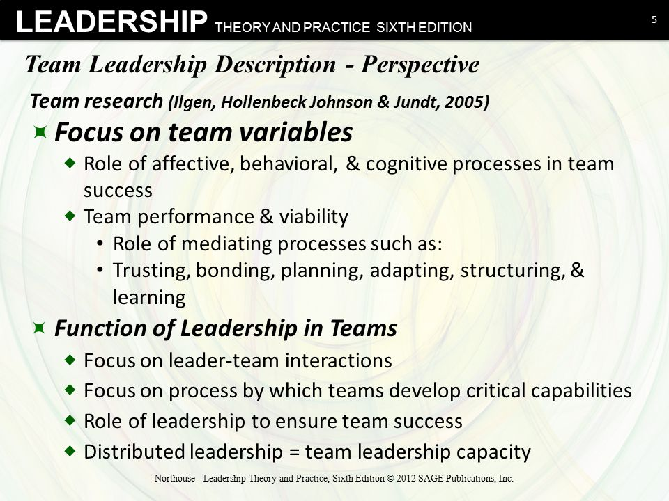 Team Leadership Chapter ppt video online download