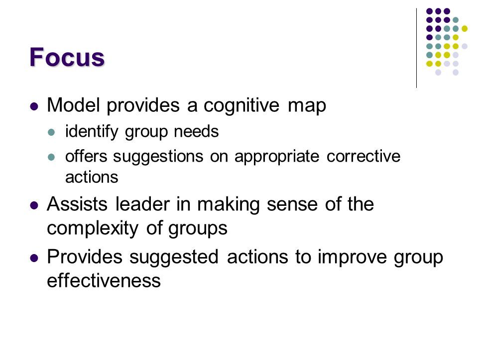 Focus Model provides a cognitive map