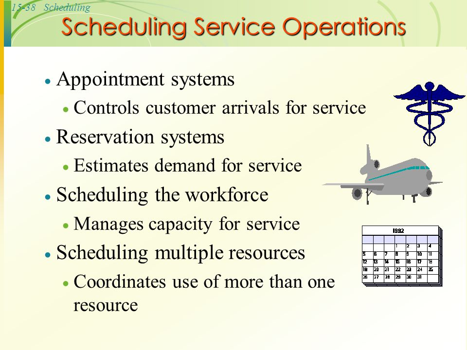 Scheduling Service Operations