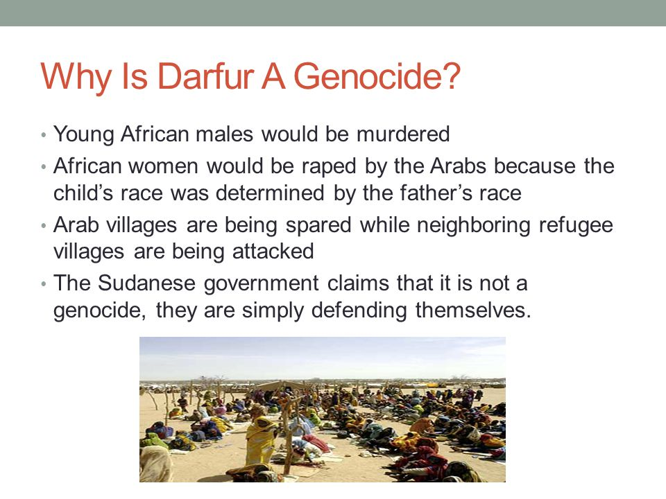 Why Is Darfur A Genocide