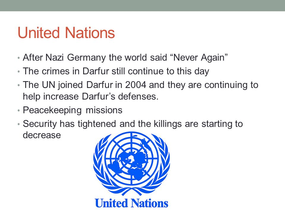 United Nations After Nazi Germany the world said Never Again