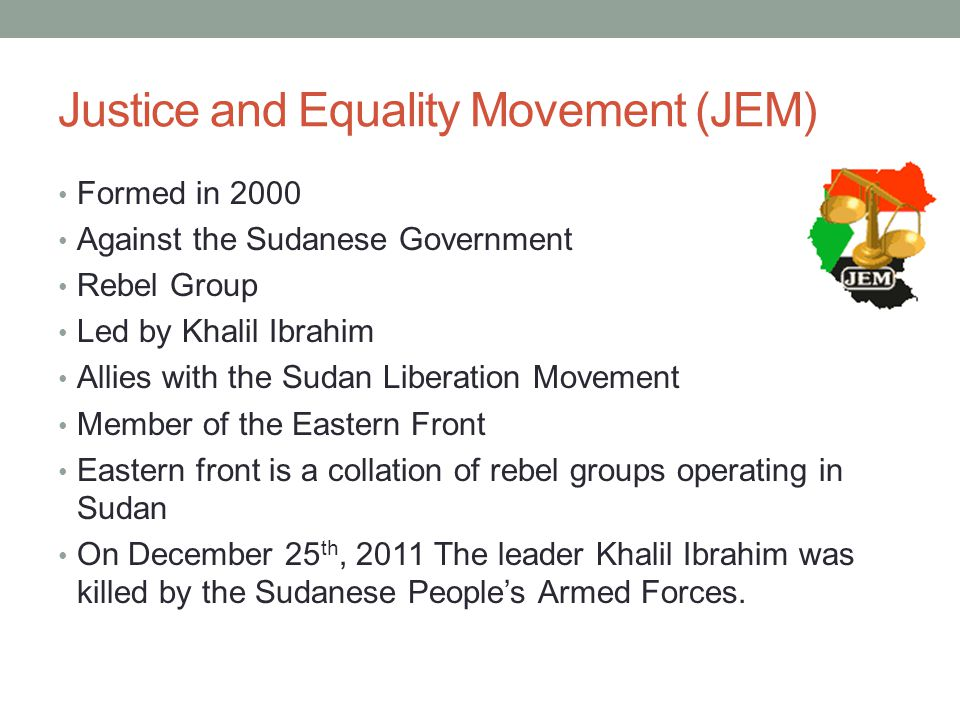 Justice and Equality Movement (JEM)