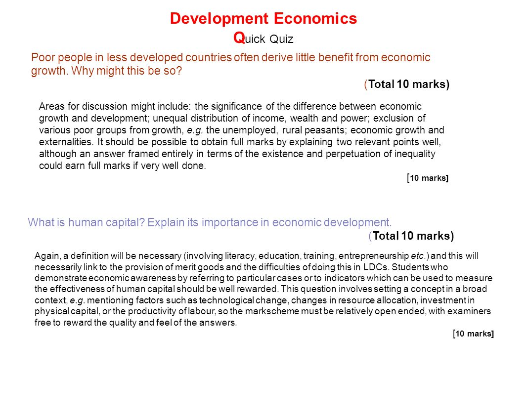 explain the role of human capital in economic development