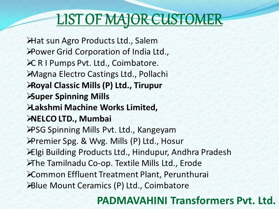 PADMAVAHINI TRANSFORMERS PVT  LTD  - ppt video online download