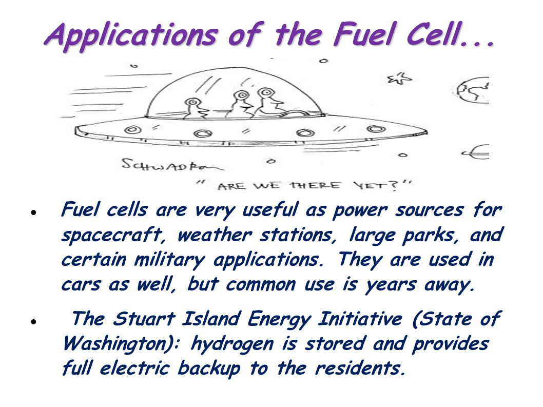 Applications of the Fuel Cell...