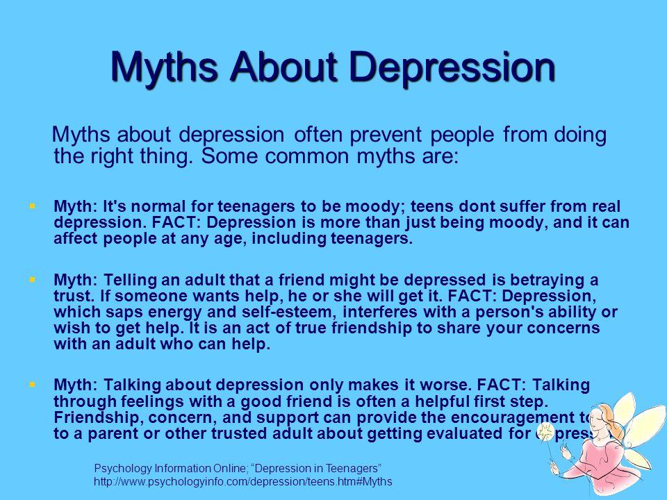 adolescent depression ppt downloadmyths about depression