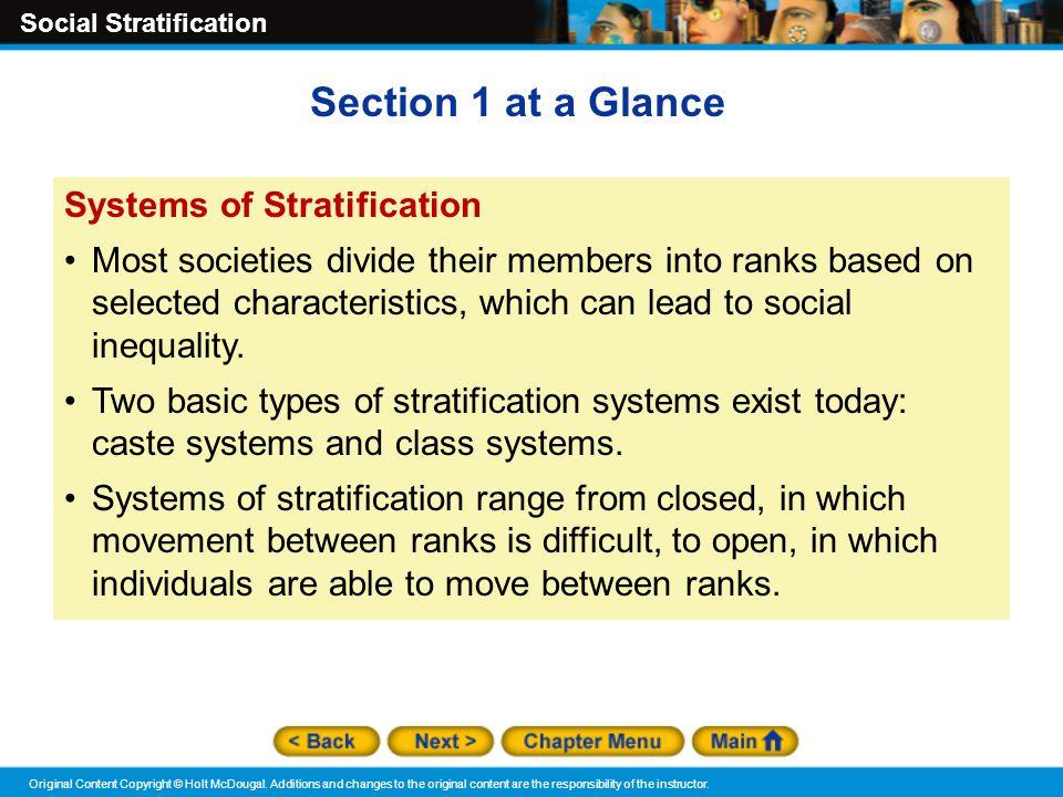 types of social stratification pdf