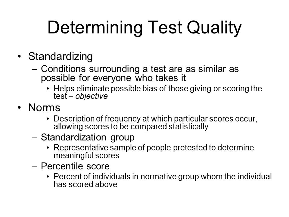 Determining Test Quality