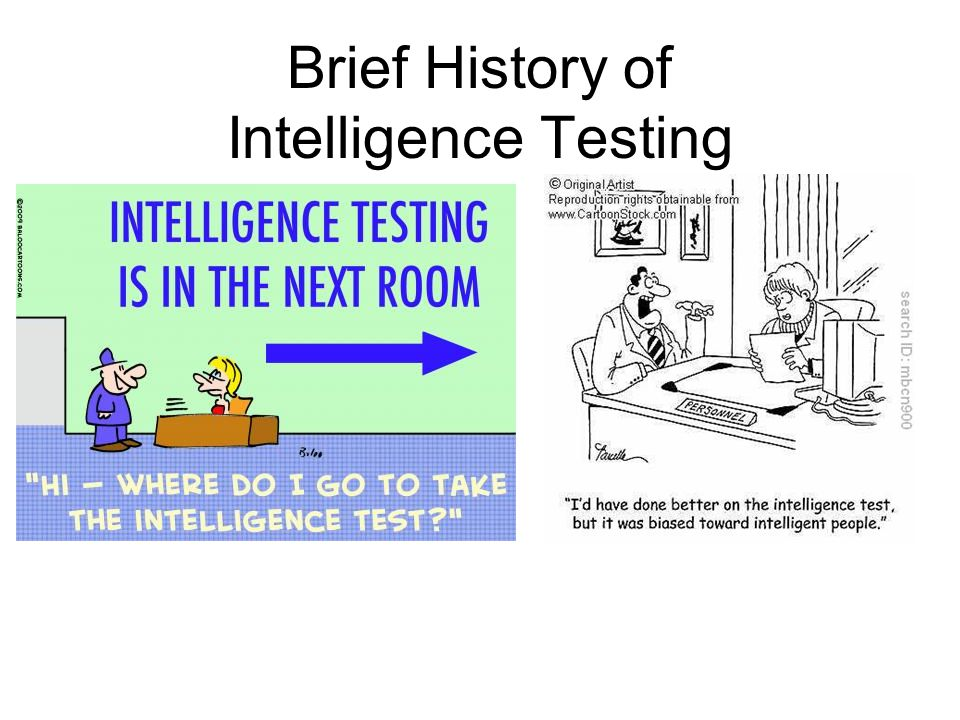 Brief History of Intelligence Testing