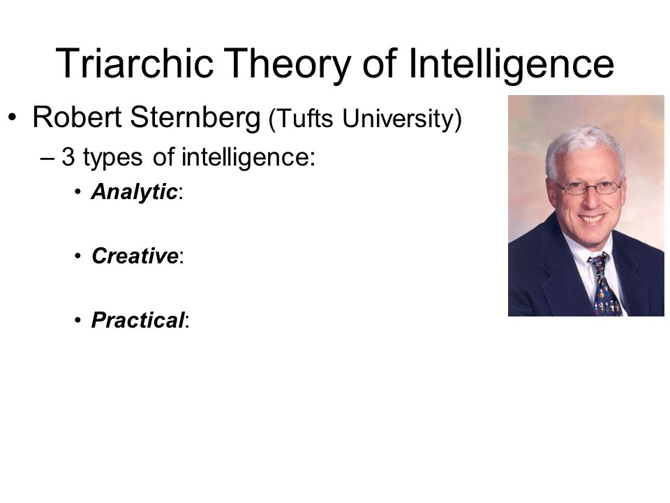 Triarchic Theory of Intelligence