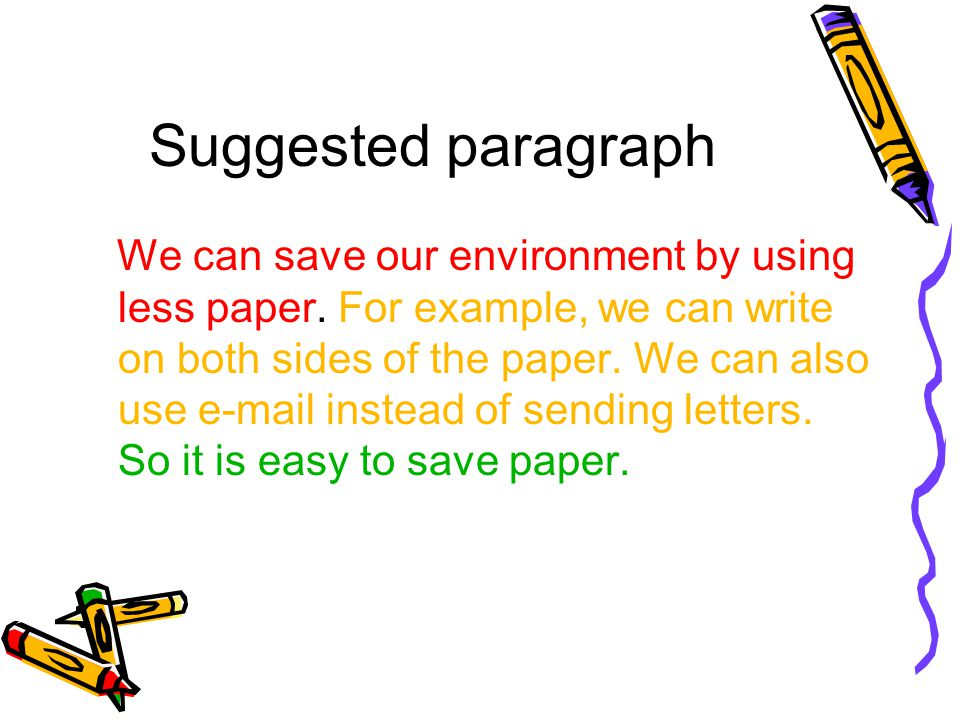 paragraph on save environment
