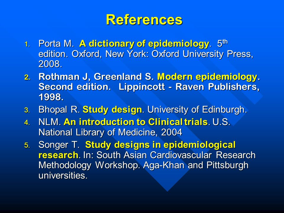 Study Designs In Epidemiology Ppt Video Online Download