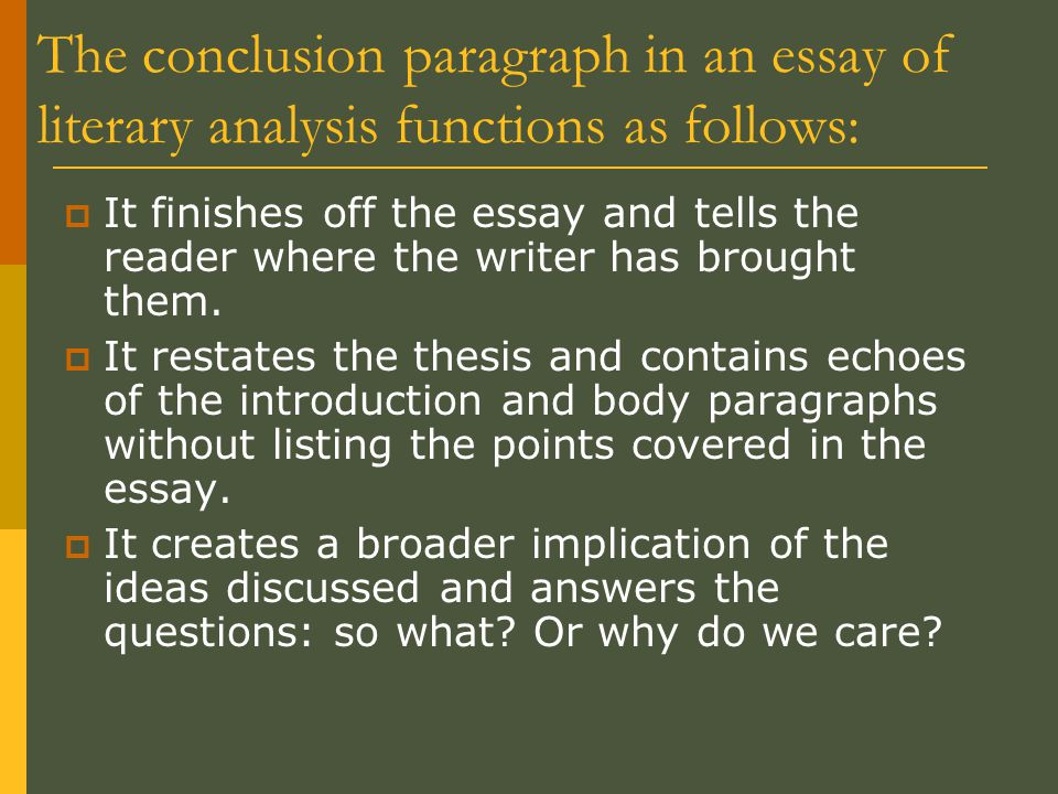 The conclusion paragraph ppt download