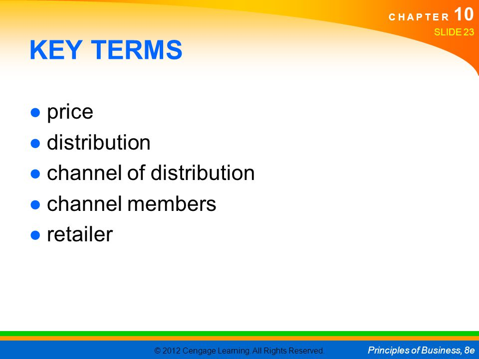 KEY TERMS price distribution channel of distribution channel members