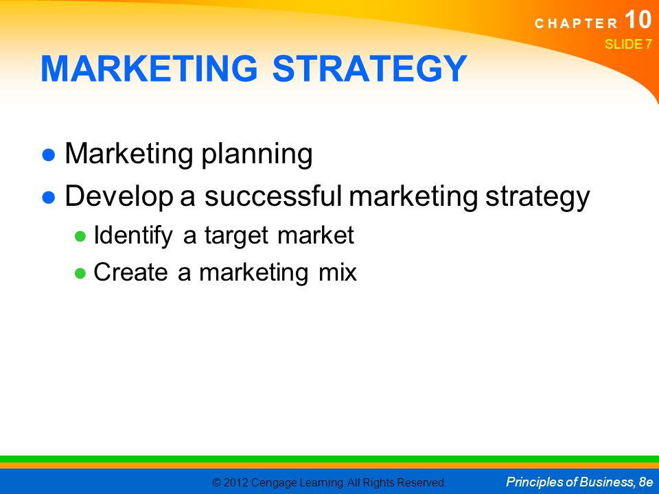 MARKETING STRATEGY Marketing planning