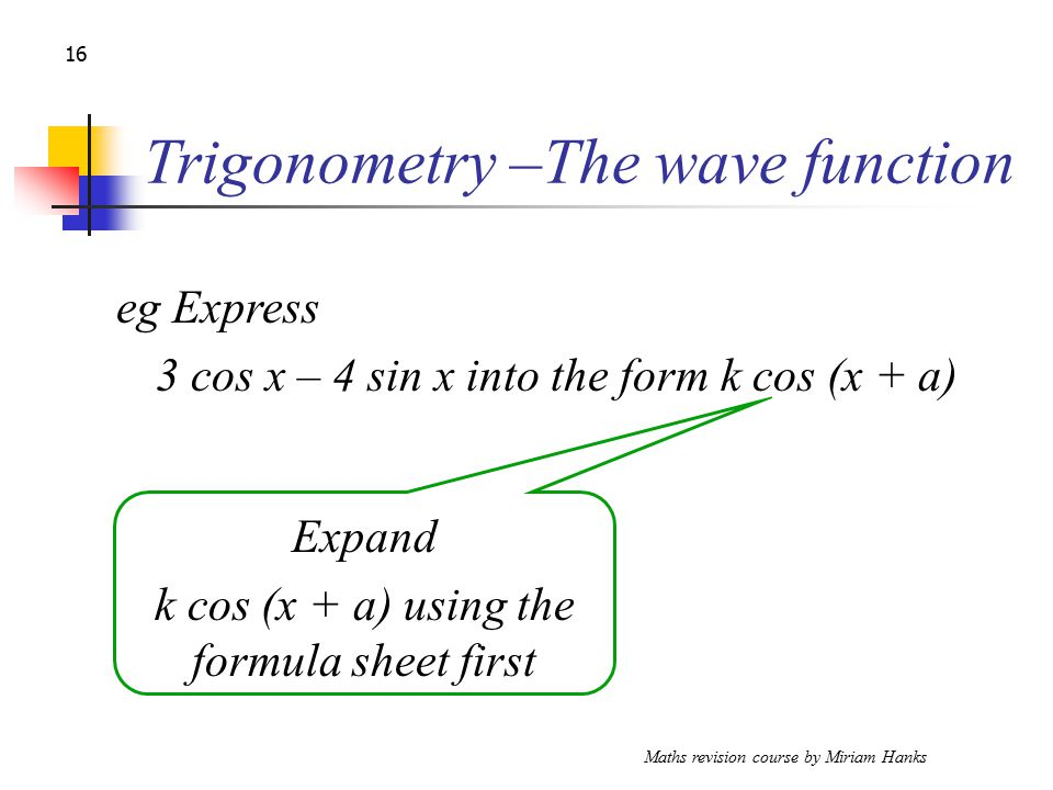 Maths Revision Course By Miriam Hanks Ppt Download. 16 Trigonometry The Wave Function. Worksheet. Special Right Triangles Worksheet Form K At Mspartners.co