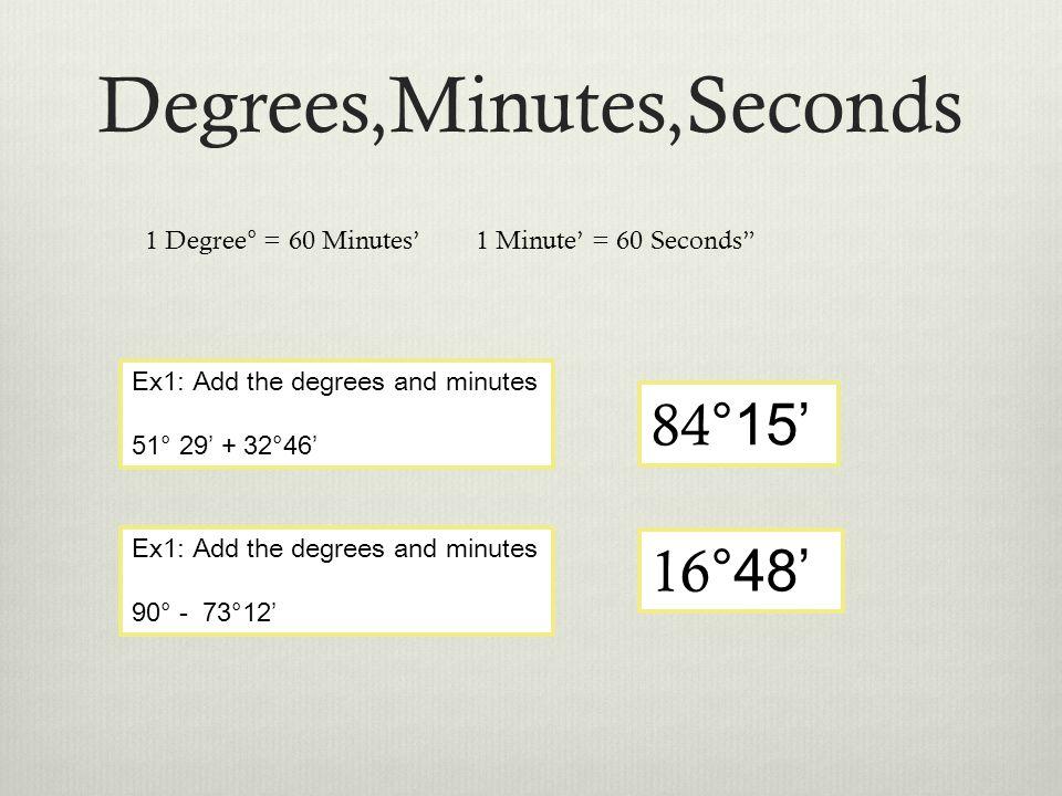 Trigonometry #1 Distance Formula, (Degrees,Minutes,Seconds