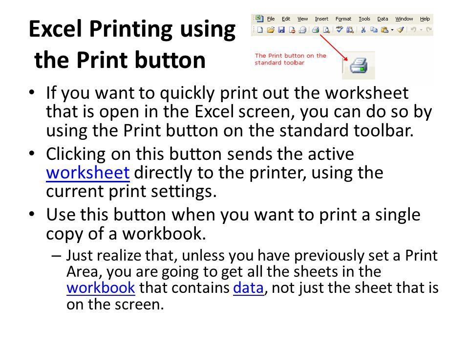 Microsoft Excel Is An Electronic Spreadsheet Program Ppt Video. Excel Printing Using The Print Button. Worksheet. Excel Worksheet Gray Screen At Mspartners.co