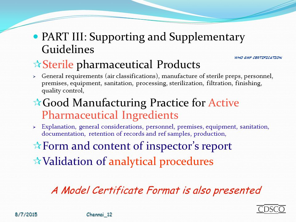 Who Gmp Certification Scheme Ppt Video Online Download