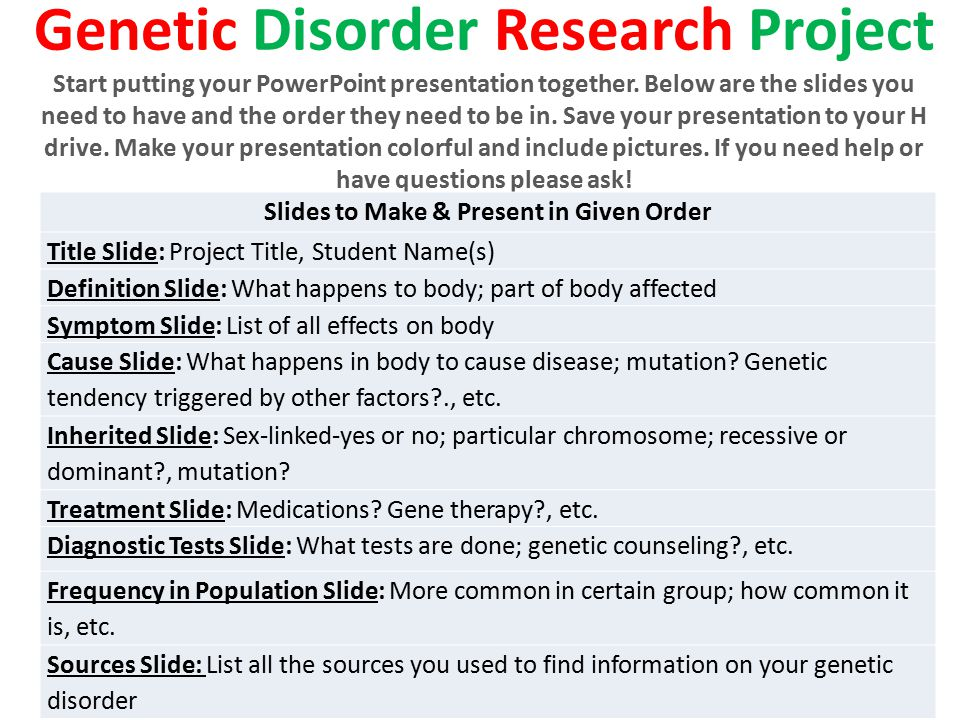Genetic Disorder Research Project
