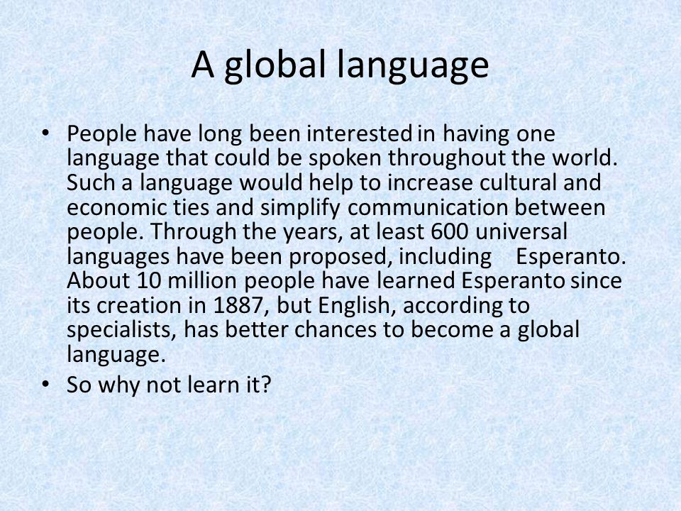 why english is the global language