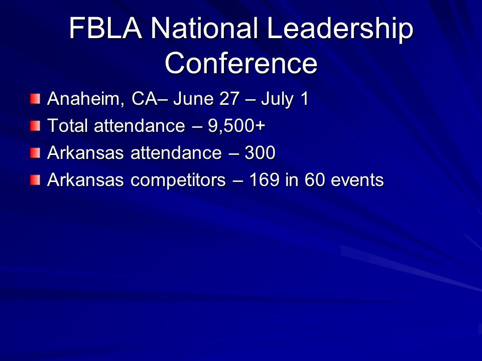FBLA National Leadership Conference