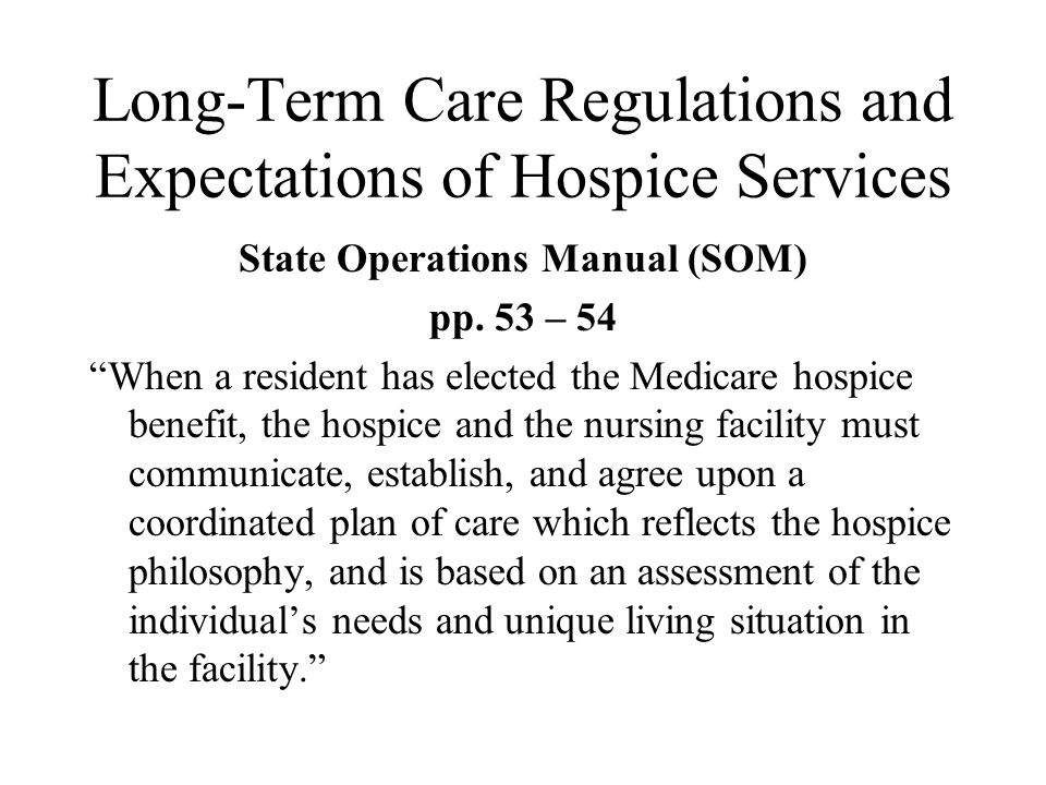 long term care hospice Long-term care services are used so long as your medical condition is treatable once your illness becomes untreatable, as for many cancer patients, hospice care is necessary the goal of hospice care is to provide as much relief as possible from pain and suffering during the last days of your life.