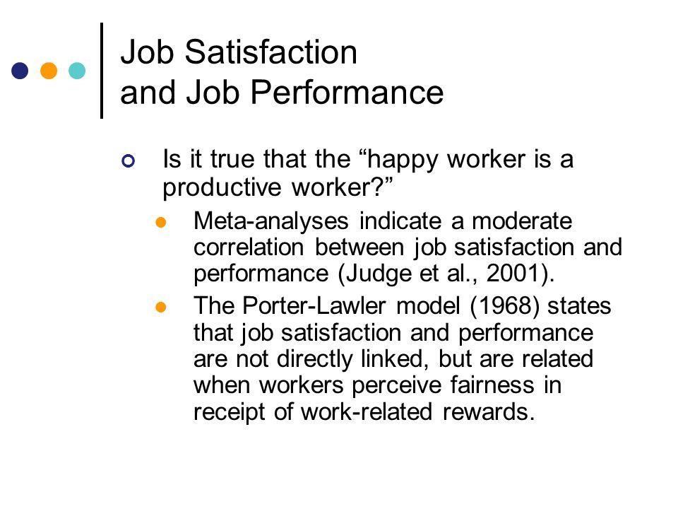 job satisfaction and job performance