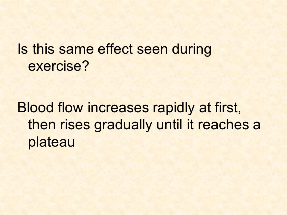 Is this same effect seen during exercise