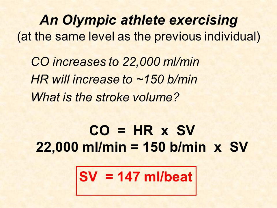 An Olympic athlete exercising (at the same level as the previous individual)