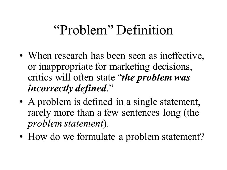 Problems Versus Symptoms And Formulating Research Objectives Ppt