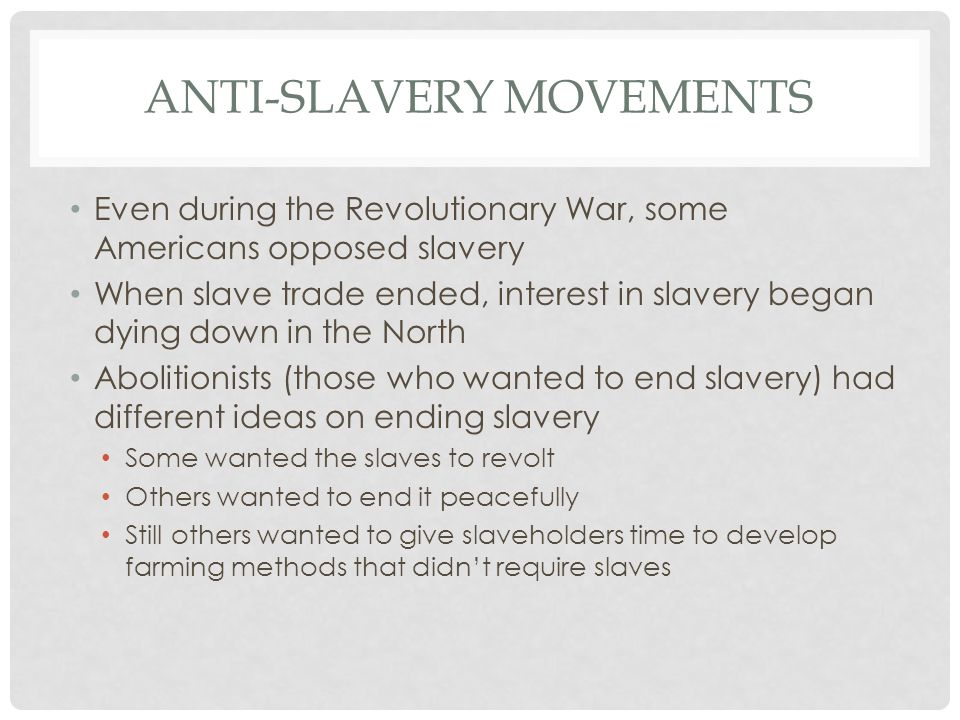Anti-Slavery Movements
