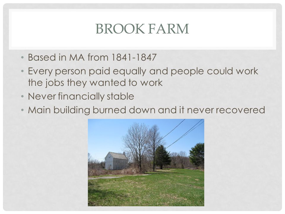 Brook Farm Based in MA from