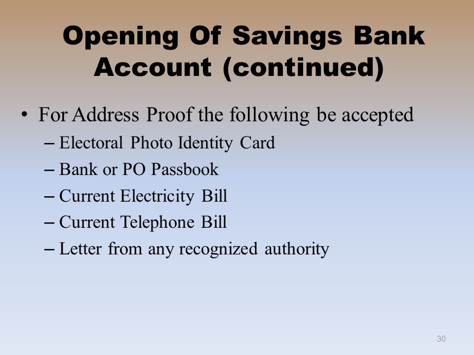 address proof letter format for opening bank account welcome to savings bank in po ppt 19344