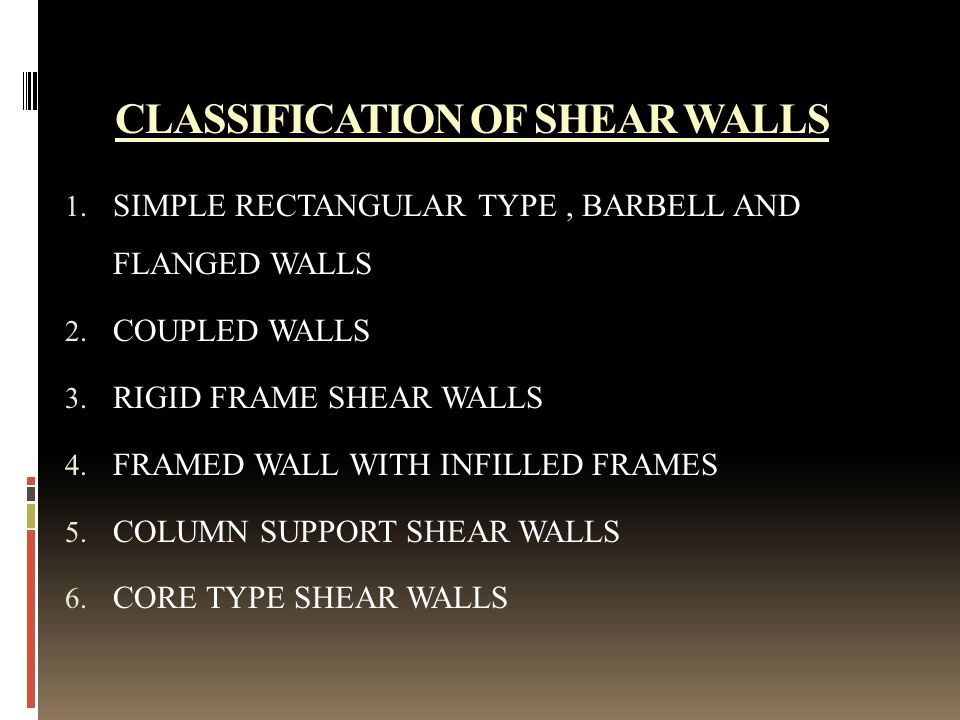 SEISMIC ANALYSIS WITH SHEAR WALLS