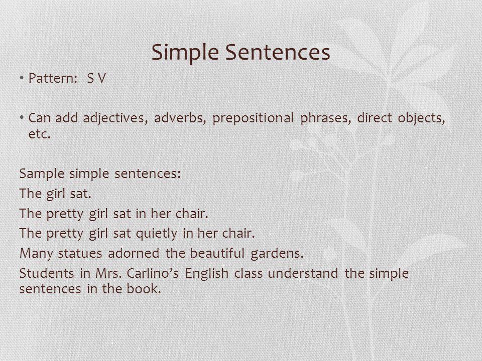 Simple complex compound sentences.