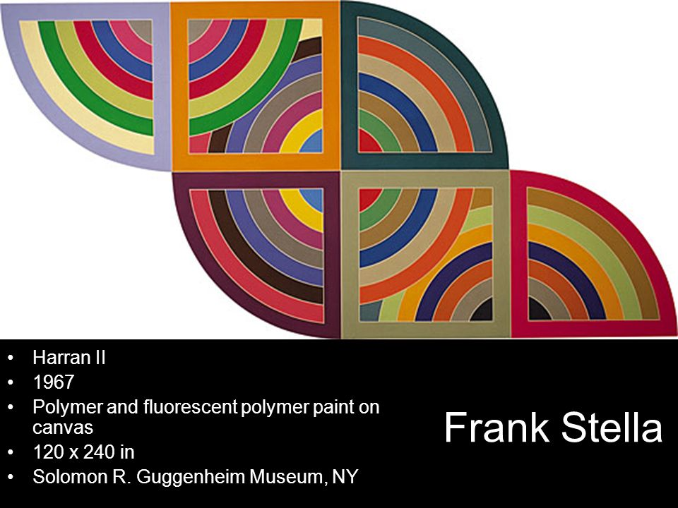 Harran II Polymer and fluorescent polymer paint on canvas. 120 x 240 in. Solomon R. Guggenheim Museum, NY.