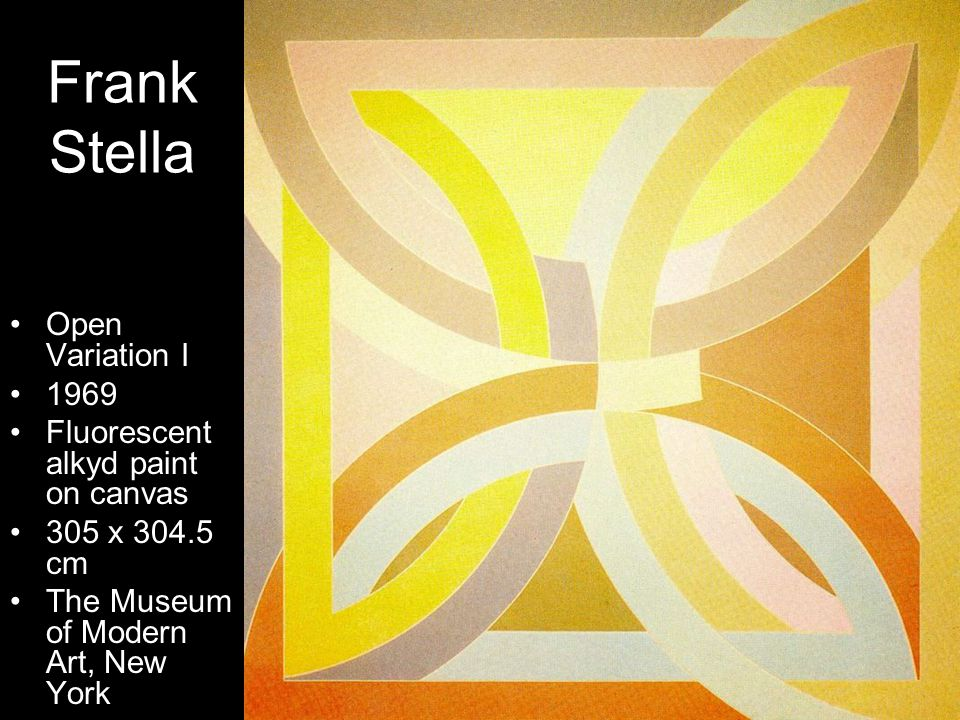 Frank Stella Open Variation I 1969 Fluorescent alkyd paint on canvas