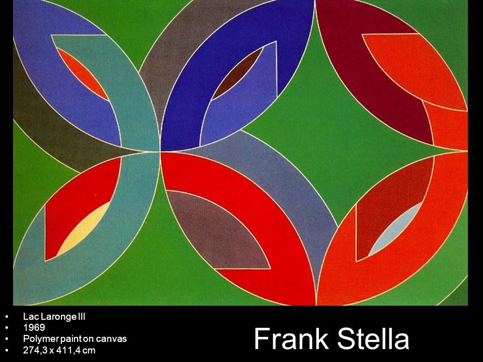 Frank Stella Lac Laronge III 1969 Polymer paint on canvas