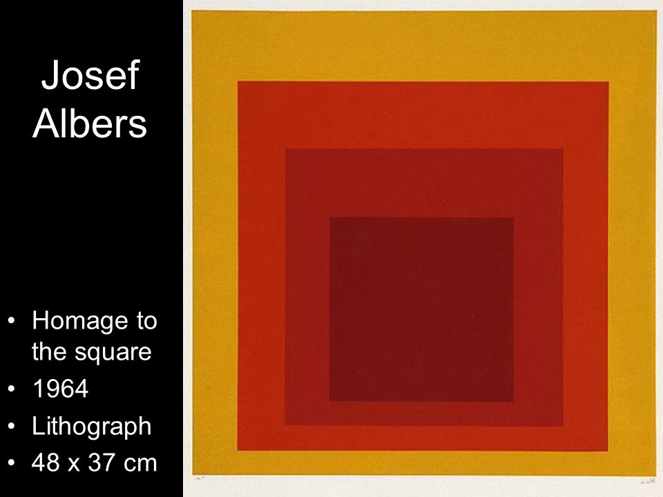Josef Albers Homage to the square 1964 Lithograph 48 x 37 cm