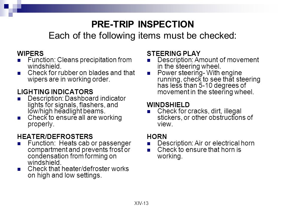 Truck Pre Trip Diagram Trusted Wiring Diagram