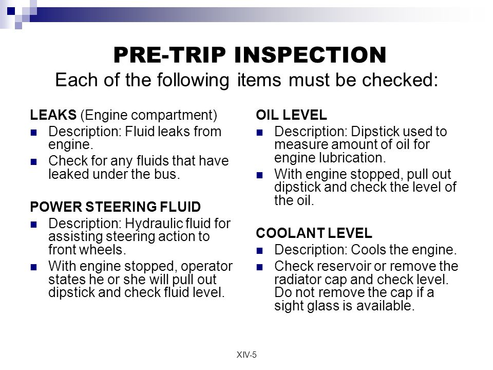 Commercial Drivers License Pre Trip Inspection Ppt Video