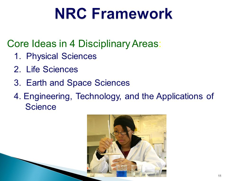 NRC Framework Core Ideas in 4 Disciplinary Areas: 1. Physical Sciences