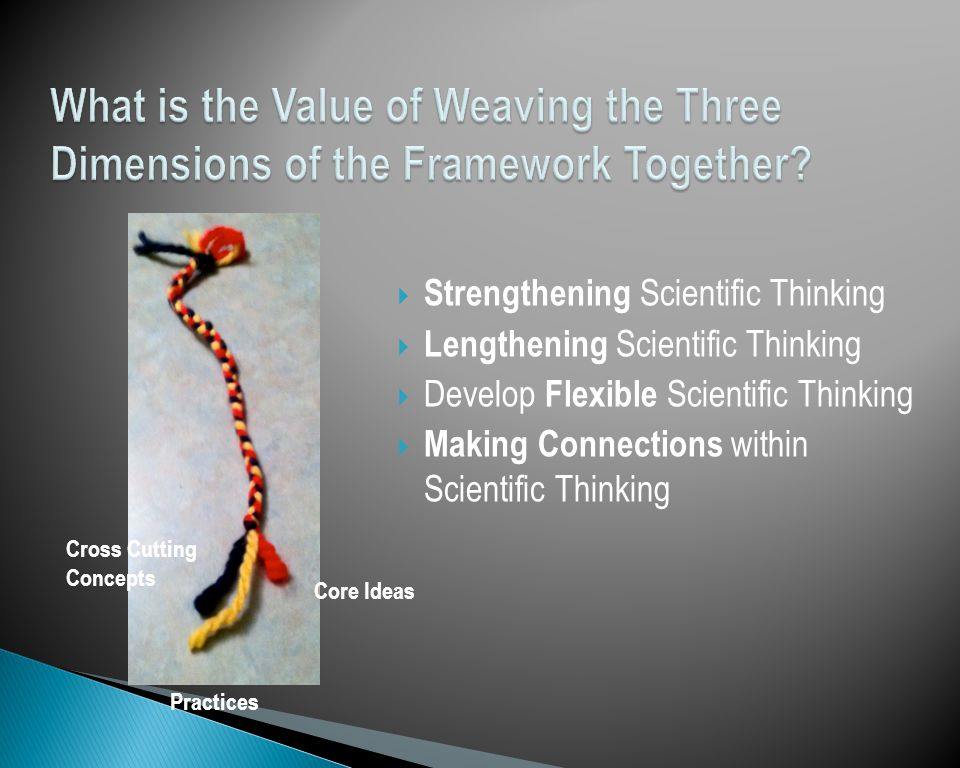 What is the Value of Weaving the Three Dimensions of the Framework Together