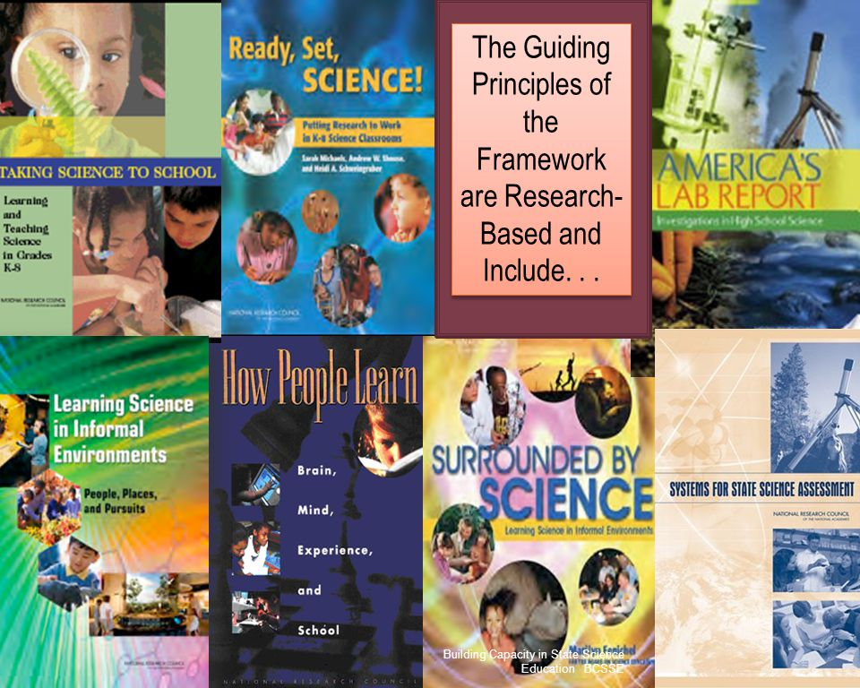 The Guiding Principles of the Framework are Research-Based and Include. . .
